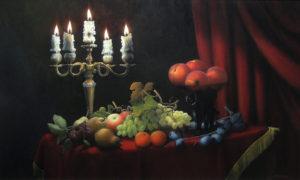 Ужин в мерцающем свете свечей.