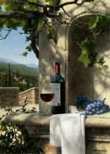 В тени виноградника