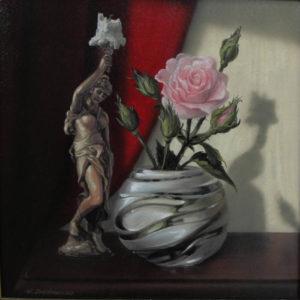 Роза и подсвечник