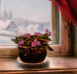 Зимние фиалки